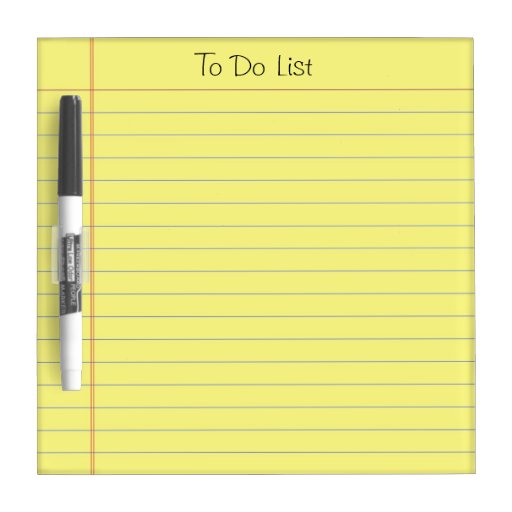 To Do List Dry Erase White Board