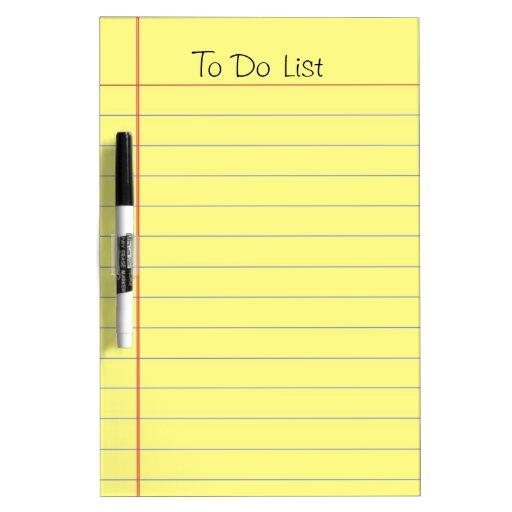 To Do List Dry-Erase Whiteboard