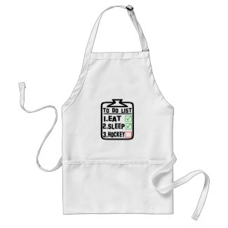 To Do List Eat Sleep Hockey Adult Apron