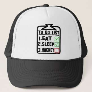 To Do List Eat Sleep Hockey Trucker Hat