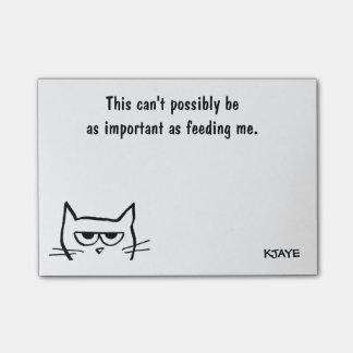 To Do List - Feed Angry Cat First - Funny Post-Its Post-it® Notes