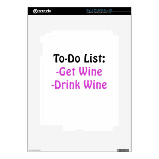 To Do List Get Wine Drink Wine Decal For The iPad 2