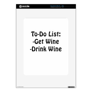 To Do List Get Wine Drink Wine Decals For iPad