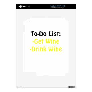 To Do List Get Wine Drink Wine iPad 2 Decal