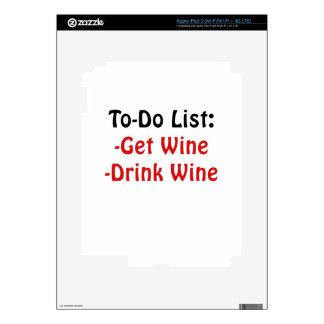 To Do List Get Wine Drink Wine iPad 3 Decals