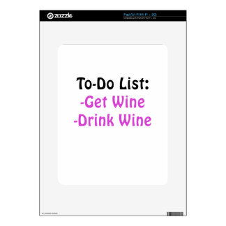 To Do List Get Wine Drink Wine Skin For iPad