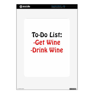 To Do List Get Wine Drink Wine Skin For The iPad