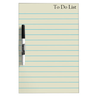 To do List Grocery Stripes Blue Lines Whiteboard Dry-Erase Board