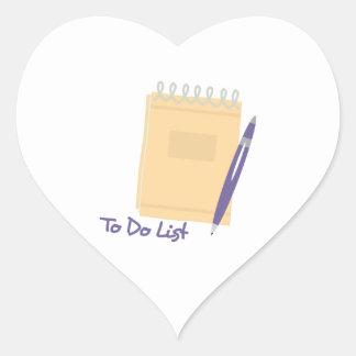 To Do List Heart Sticker