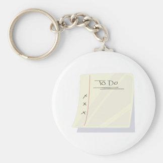 To Do List Keychains
