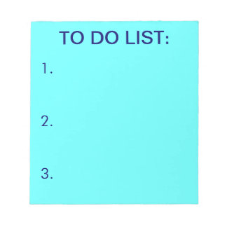 TO DO LIST (Light Blue) Notepads