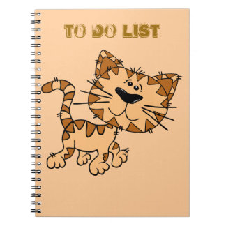 To do list note book. spiral notebook