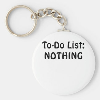 To Do List Nothing Keychain