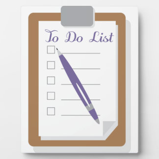 To Do List Photo Plaques