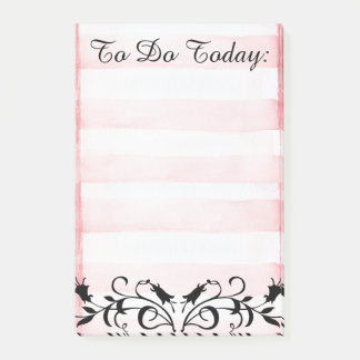 To Do List Pin Stripes & Floral Design Post-it Post-it Notes