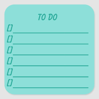 To Do List Planner Sticker