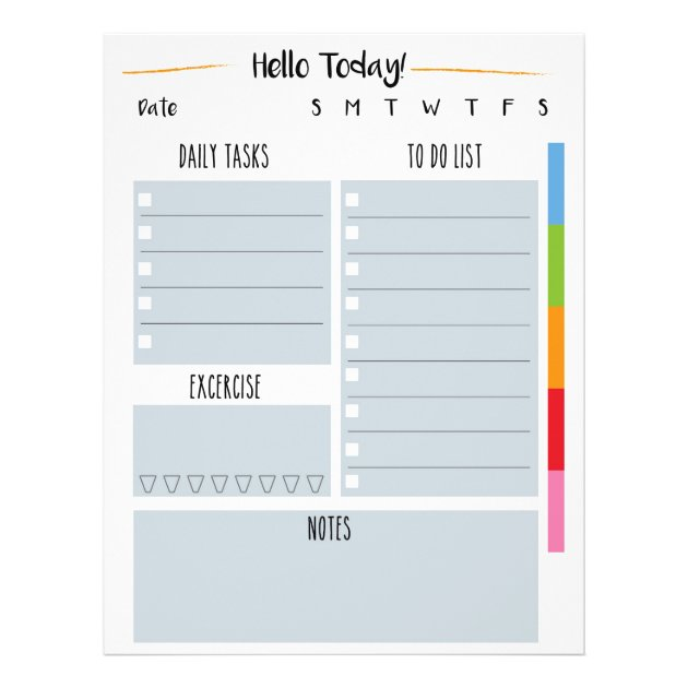 This is an image of Weekly to Do List Printable inside templates printable