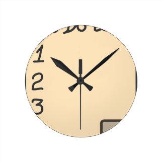 To do list round clock