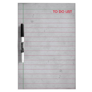 To Do List Ruled Note Paper Dry Erase Board