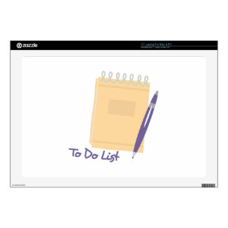 To Do List Skin For Laptop