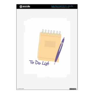 To Do List Decals For iPad 3
