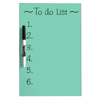 To do list white board