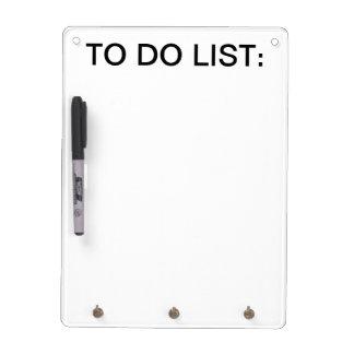 To Do List Whiteboard w/ Keychain holder