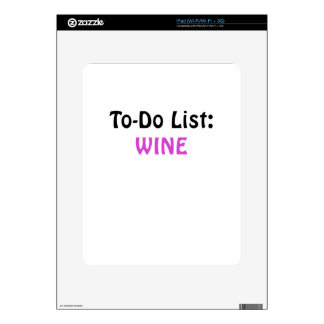 To Do List Wine Decal For iPad