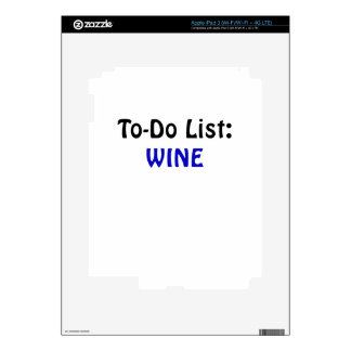 To Do List Wine Decal For iPad 3