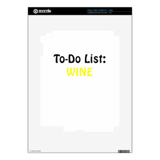 To Do List Wine Decals For iPad 2