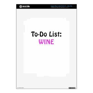 To Do List Wine iPad 3 Decals