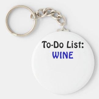 To Do List Wine Keychain