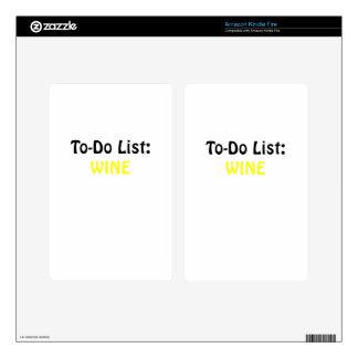 To Do List Wine Kindle Fire Decal