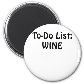 To Do List Wine Magnet