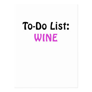 To Do List Wine Postcard