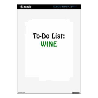 To Do List Wine Skin For iPad 3