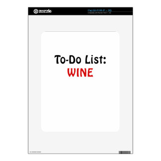 To Do List Wine Skins For iPad