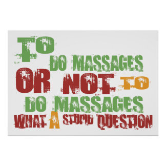 To Do Massages Poster