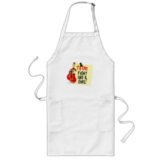 To Do Note - Fight Like a Girl - Blood Cancer Apron