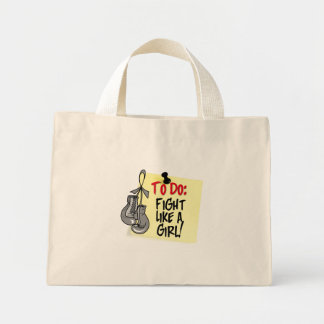 To Do Note - Fight Like a Girl - Brain Tumor Tote Bags