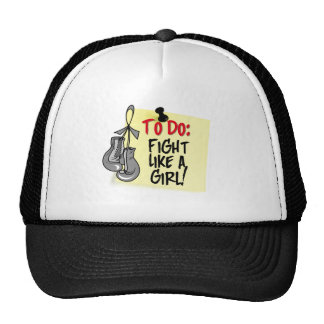 To Do Note - Fight Like a Girl - Brain Tumor Mesh Hats