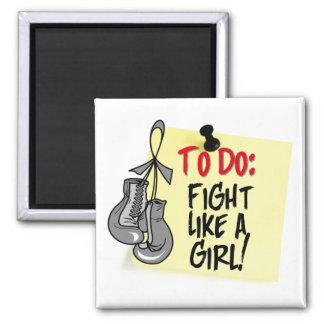 To Do Note - Fight Like a Girl - Brain Tumor Fridge Magnet