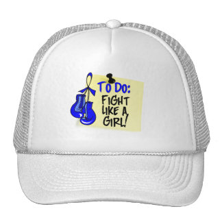 To Do Note - Fight Like a Girl - Colon Cancer Trucker Hats