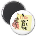 To Do Note - Fight Like a Girl Endometrial Cancer Magnets