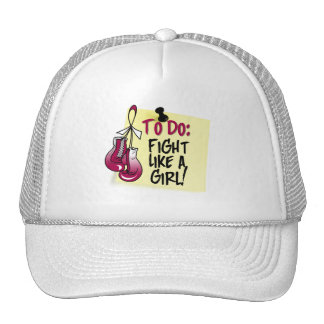 To Do Note - Fight Like a Girl - Head Neck Cancer Trucker Hat