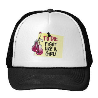 To Do Note - Fight Like a Girl - Head Neck Cancer Mesh Hat