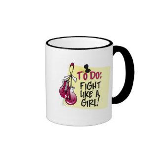 To Do Note - Fight Like a Girl - Head Neck Cancer Mug