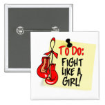 To Do Note - Fight Like a Girl - Heart Disease Button