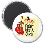 To Do Note - Fight Like a Girl - Heart Disease Refrigerator Magnets