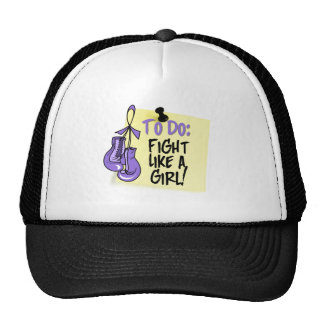To Do Note - Fight Like a Girl - Hodgkins Lymphoma Trucker Hat